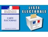 """LISTES ELECTORALES - TABLEAU DES MOUVEMENTS """" des 5 jours """""""